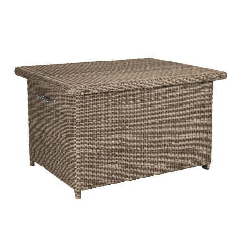 4 Seasons Outdoor - Wales Rattan Cushion Storage Box, Pure