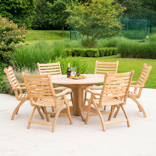 Alexander Rose Roble 6 Seater Set With Folding Chairs