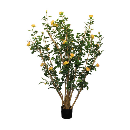 Artificial Royal Rose Tree 5ft Yellow