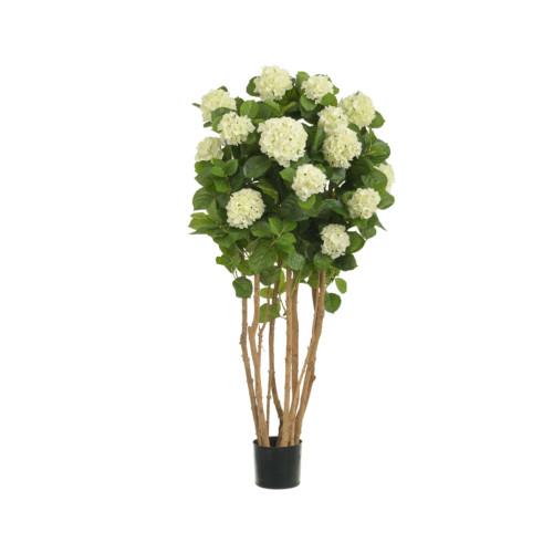 Artificial Hydrangea Tree 4ft Cream