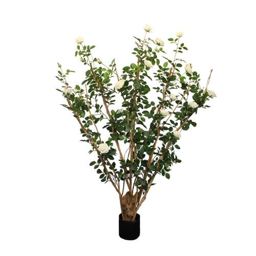 Artificial Royal Rose Tree 5ft Cream