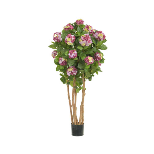 Artificial Hydrangea Tree 4ft Lavender