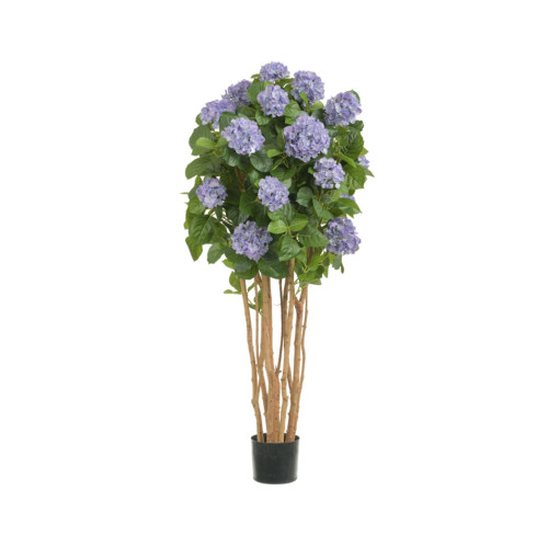 Artificial Hydrangea Tree 4ft Light Blue