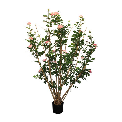 Artificial Royal Rose Tree 5ft Pink