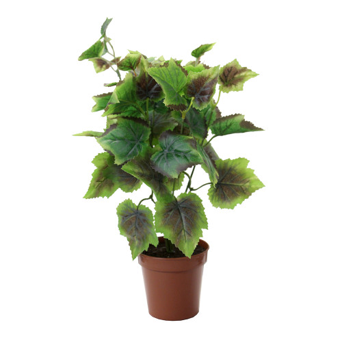 Artificial Coleus Bush, Red and Green 40cm