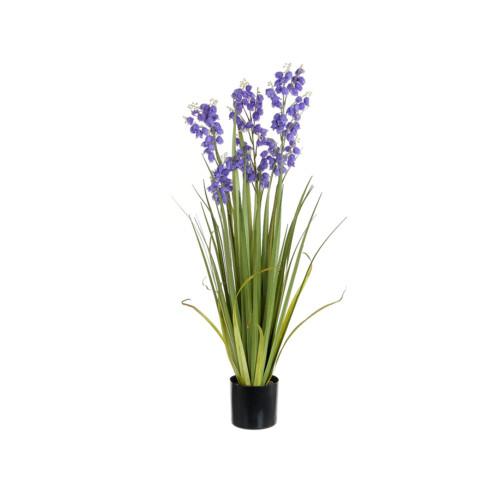 Artificial Bellflower Grass Pot, Purple 92cm