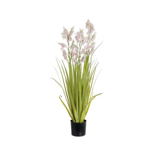 Artificial Bellflower Grass Pot, Pink 92cm