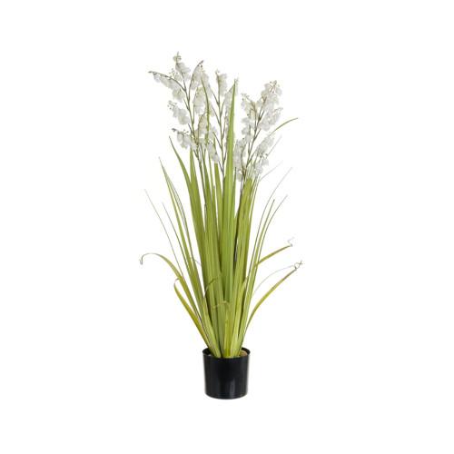 Artificial Bellflower Grass Pot, Cream 92cm