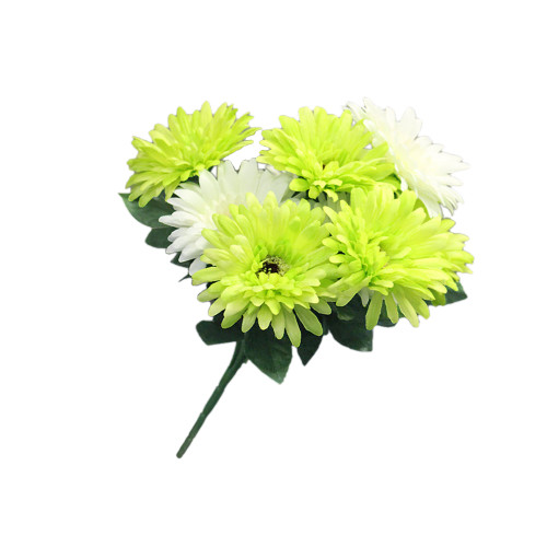 Artificial Allium Grass With Zinc Pot, Cream