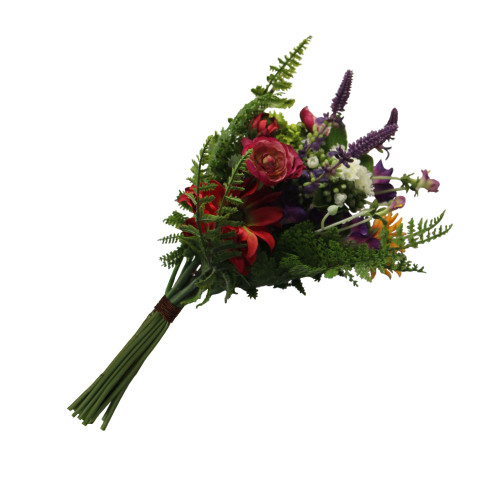 Artificial 41cm Mixed Flower and Fern Bundle