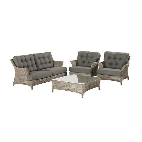 4 Seasons Outdoor - Valentine 4 Piece Luxury Rattan Sofa Set