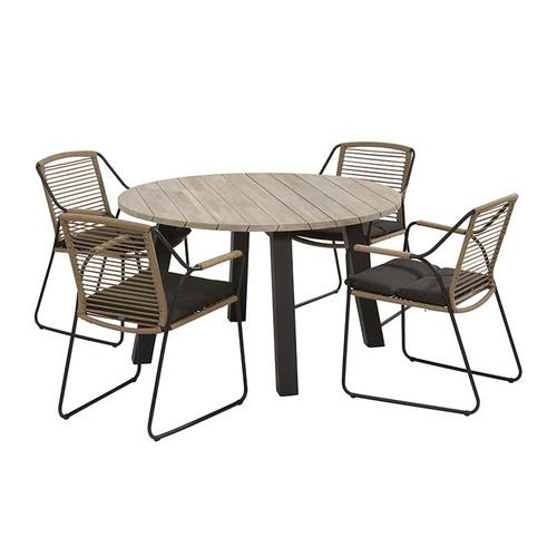 4 Seasons Outdoor - Scandic 4 Seater Rope Dining Set