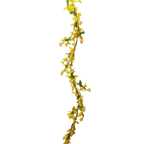 Artificial 6ft Forsythia Garland, Yellow