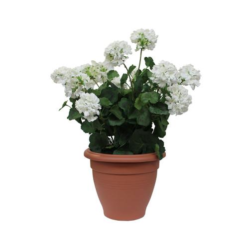 Artificial Geranium Tub - Cream