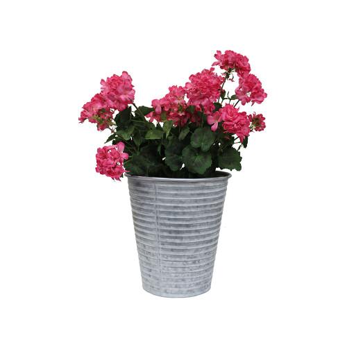 Artificial Geranium in Tin - Pink