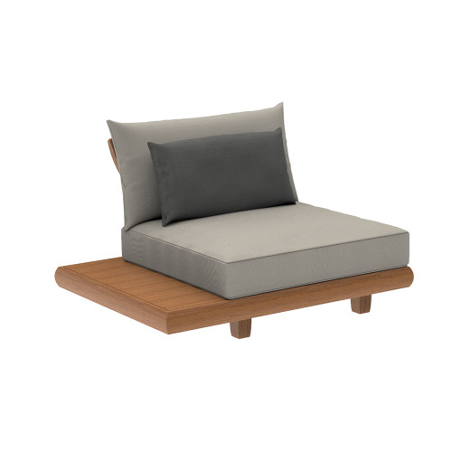 Alexander Rose - Sorrento Lounge Middle Module with Cushion incl. Ext. Table (Reversible)