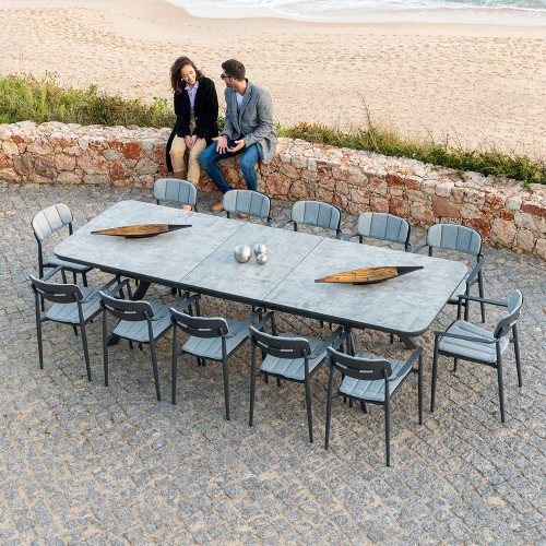 Alexander Rose - Rimini 12 Seat Dining Set with 2.3m/3m x 1m Extendable Table