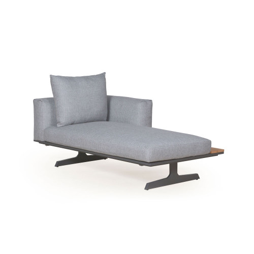 4 Seasons Outdoor - Endless Anthracite Bench/Chaise
