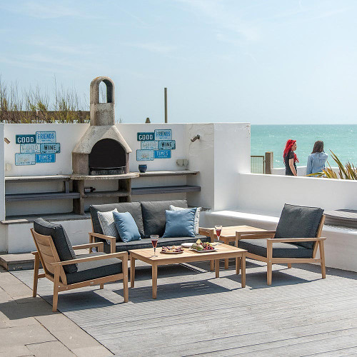 Alexander Rose Roble Lounge Set, Charcoal