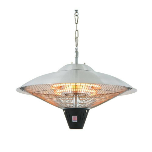 Hanging Round Silver Hanging Halogen Electric Heater