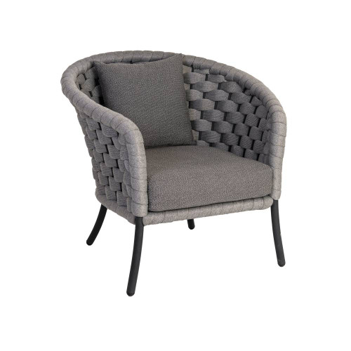 Alexander Rose - Cordial LUXE Lounge Chair, Light Grey