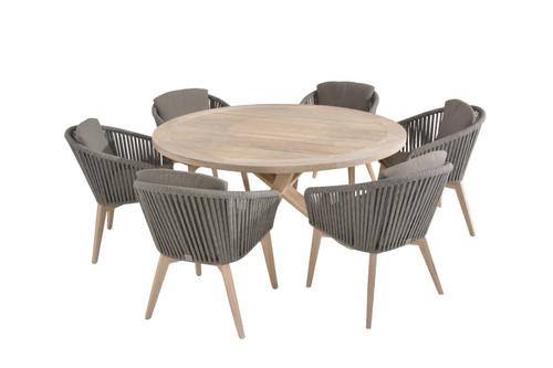 4 Seasons Outdoor - Avila 6 Seater Teak Dining Set