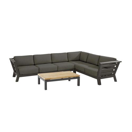 4 Seasons Outdoor - Meteoro Modular Corner Lounge Set, Large