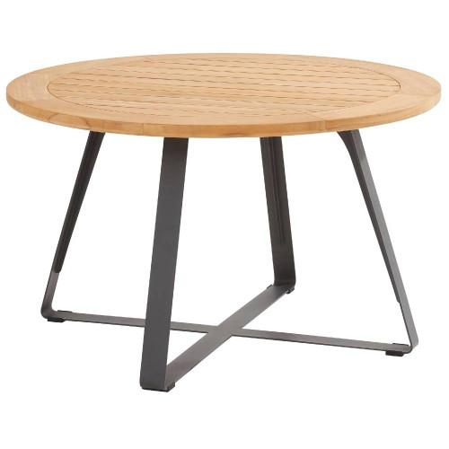 4 Seasons Outdoor - Louvre Dining Table Teak 160cm, Alu Legs