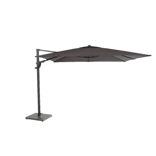 4 Seasons Outdoor - Siesta Parasol Taupe With Anthrcite Frame, 300x300cm