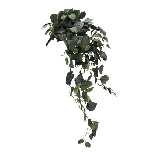 UVP Artificial Fittonia Hanging Bush - White