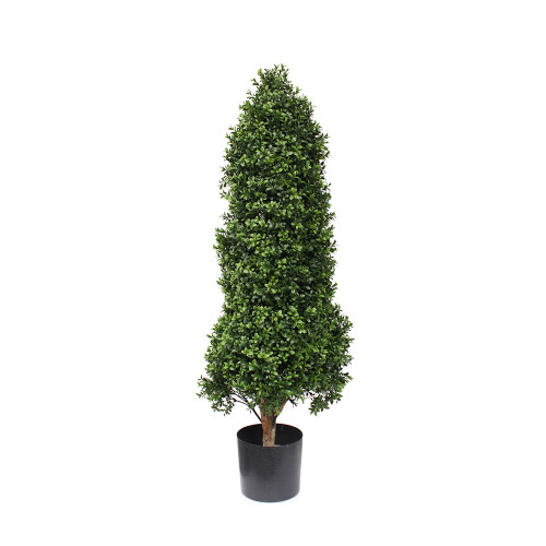 Artificial Topiary Boxwood Tower Tree, 120cm (3.5ft)