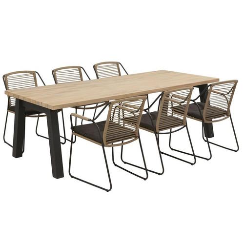 4 Seasons Outdoor - Scandic 6 Seater Rope Dining Set