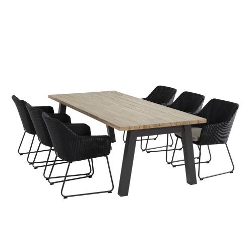 4 Seasons Outdoor - Avila 6 Seater Anthracite Dining Set