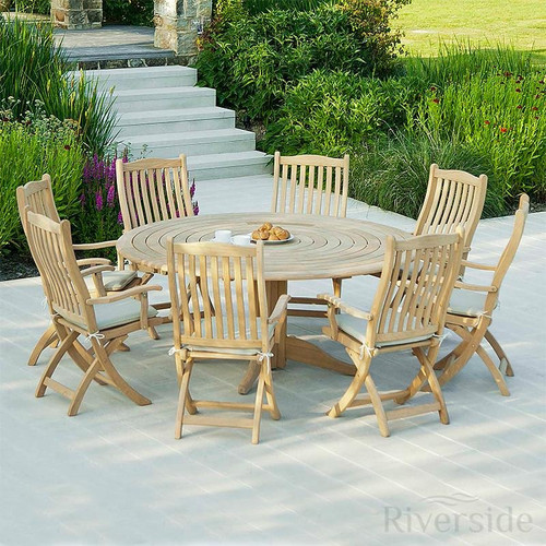 Alexander Rose Roble 8 Seater Set 175cm, Oatmeal