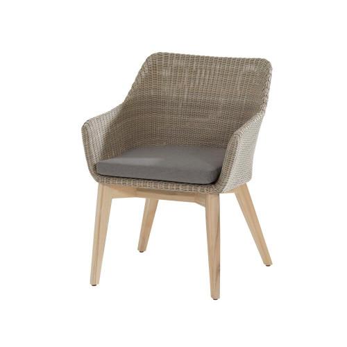 4 Seasons Outdoor - Avila Dining Chair Teak Legs With Cushion