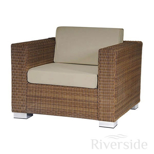 Alexander Rose San Marino Rattan Garden Armchair With Oatmeal Cushions