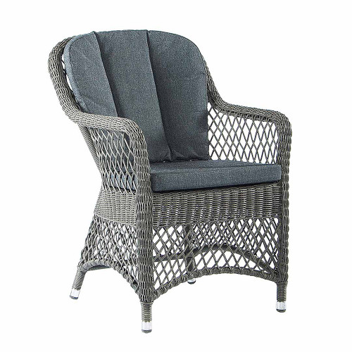 Alexander Rose Monte Carlo Open Weave Rattan Armchair With Cushion