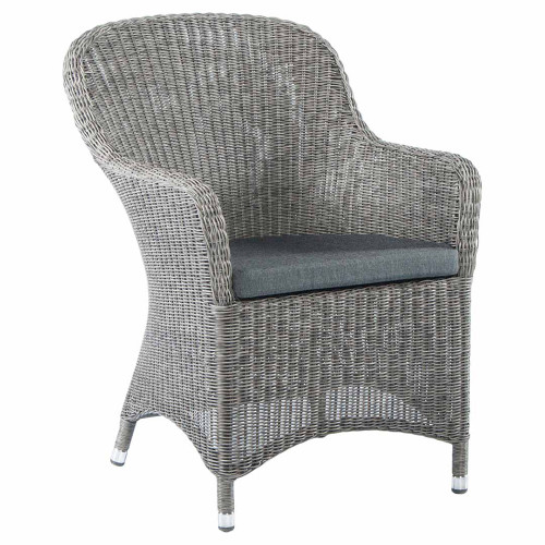 Alexander Rose Monte Carlo Closed Weave Rattan Armchair With Cushion