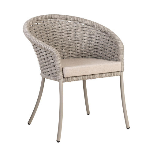 Alexander Rose Cordial Beige Dining Chair with Oatmeal Cushion