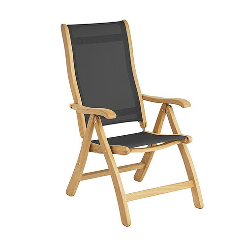 Alexander Rose Roble Recliner Chair, Charcoal Sling