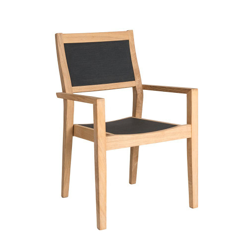 Alexander Rose Roble Stacking Armchair Charcoal Sling