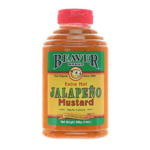 Beaver Brand Extra Hot Jalapeño Mustard - 368G (13 OZ)
