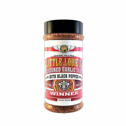 Big Poppa Smokers 'Little Louie's' Seasoned Garlic Salt With Black Pepper - 212g (7.5oz)