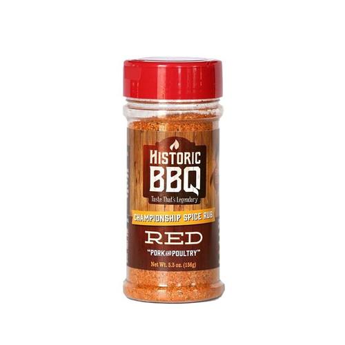 Historic BBQ Red Pork & Poultry BBQ Rub - 156g