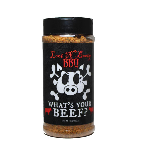 Loot N Booty 'What's Your Beef' Beef Rub - 368g (13 oz)