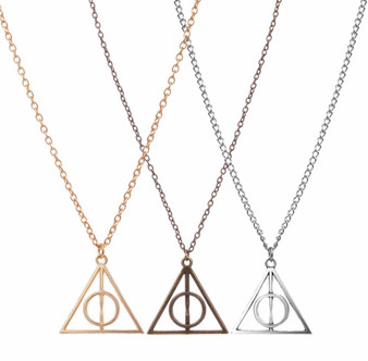 Deathly Hallows Necklace Gold - Bronze - Silver