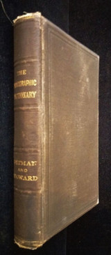 1883 THE PHONOGRAPHIC DICTIONARY Pitman & Howard 1st Ed Shorthand Stenogrpahy