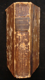 A GAZETTEER OF NEW JERSEY AND THE HISTORY OF NEW JERSEY, 1841 History War Scarce