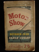 Earls Court Motor Show Antique Collectible Book Vintage Car Advertisments1955