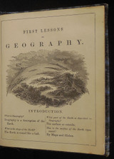 FIRST LESSONS IN GEOGRAPHY FOR YOUNG CHILDREN, by S. Augustus Mitchell - 1859